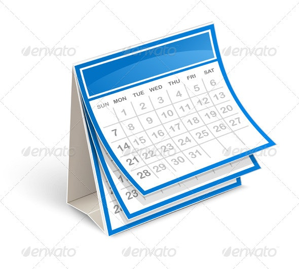 Calendar - Objects Vectors