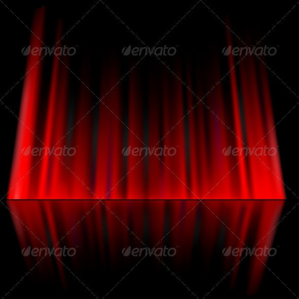 Red abstract curtain background - Backgrounds Decorative