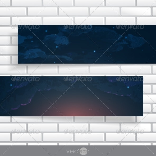 Abstract Banners With Place For Your Text - Backgrounds Decorative
