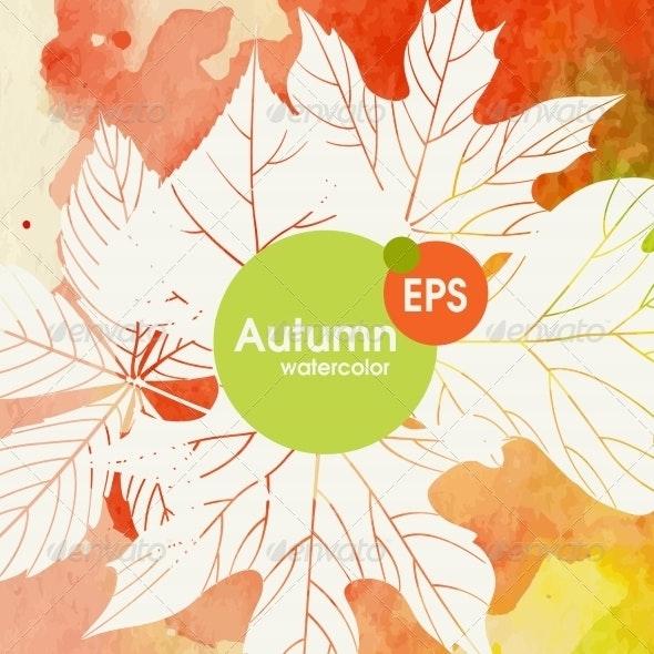Creative Autumn Background - Seasons Nature
