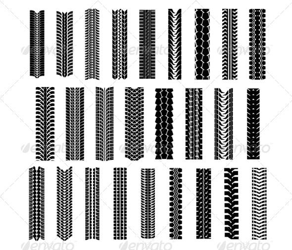 Tire Shapes Set - Patterns Decorative
