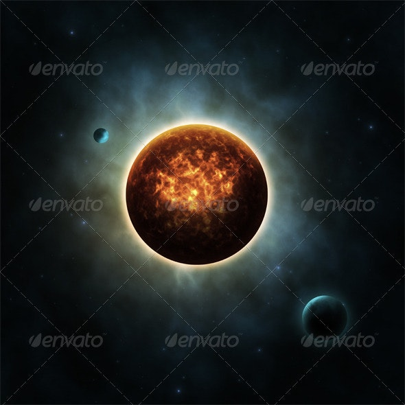 Sun with Planets