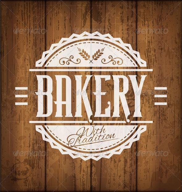 Bakery Label - Food Objects