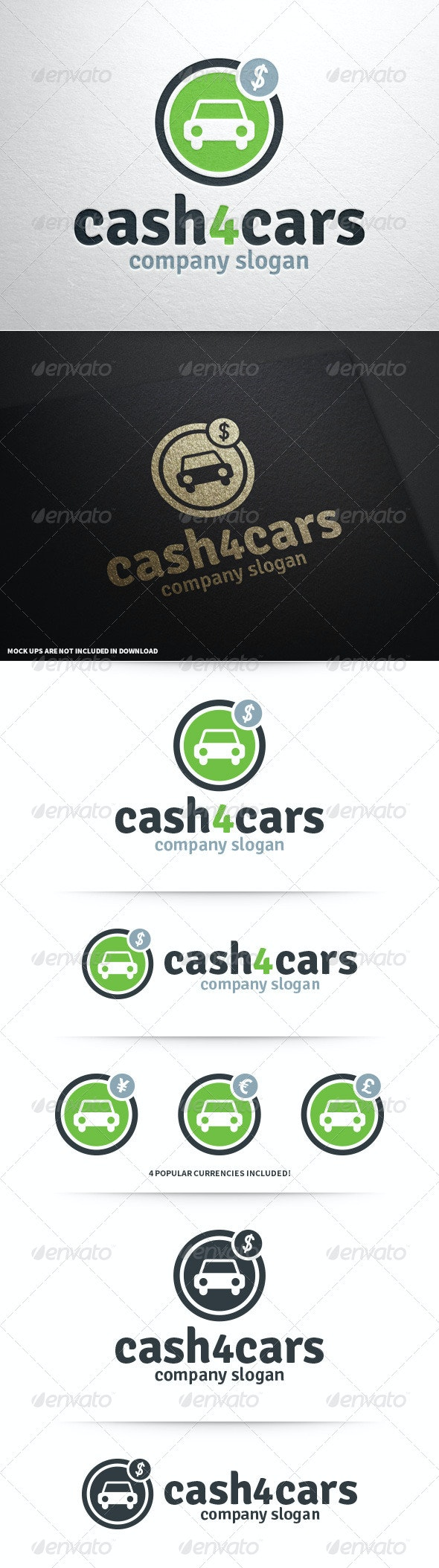 Cash 4 Cars Logo Template - Symbols Logo Templates