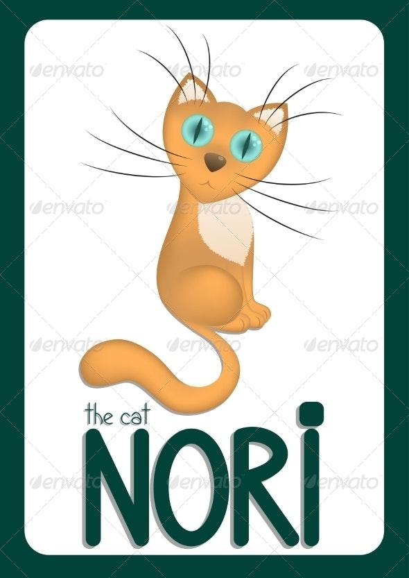 Cartoon Cat Nori - Animals Characters