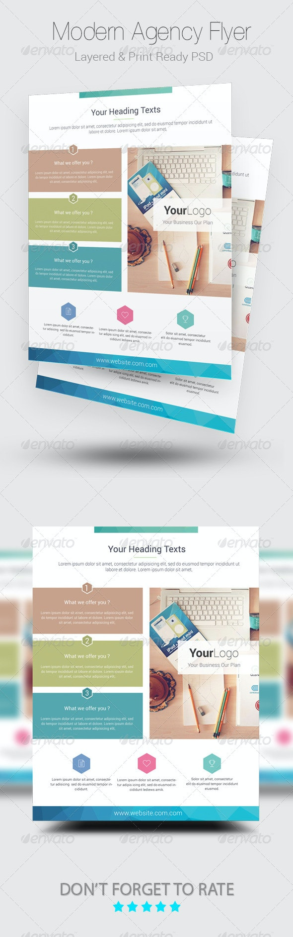Modern Agency Flyer Template - Corporate Business Cards