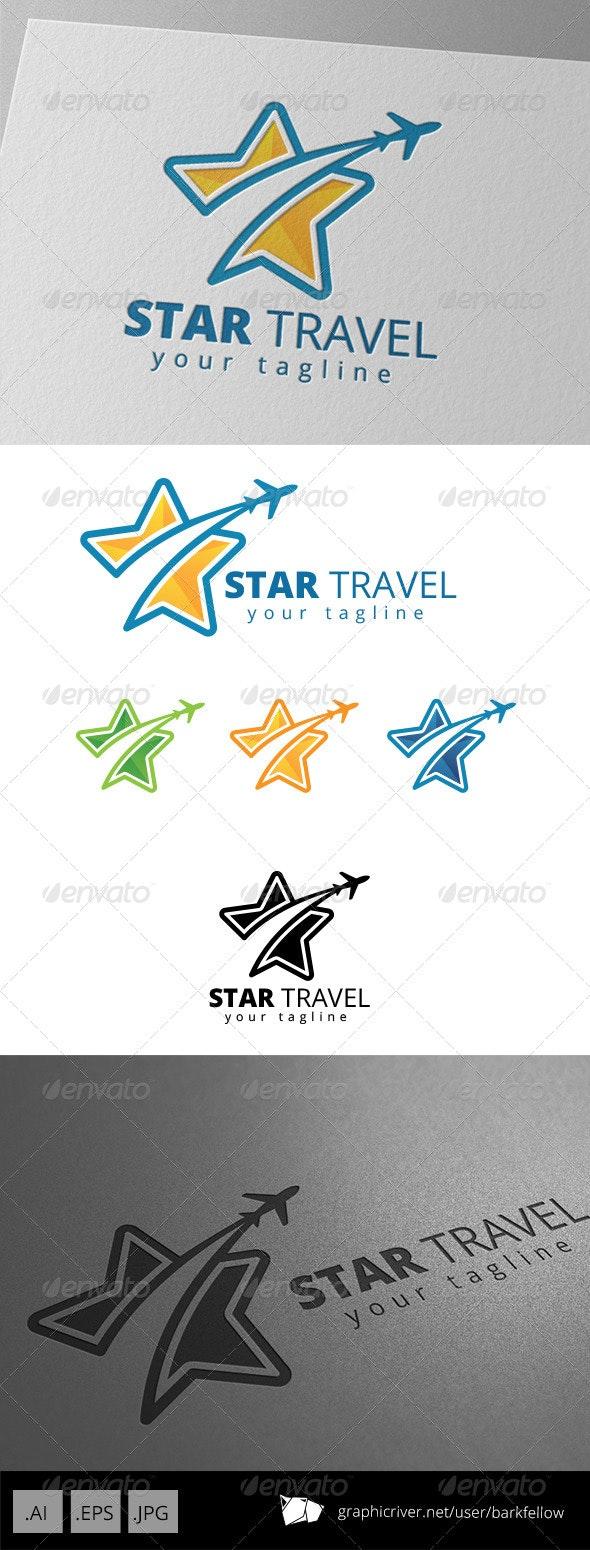 Star Plane Travel Agent Logo - Symbols Logo Templates