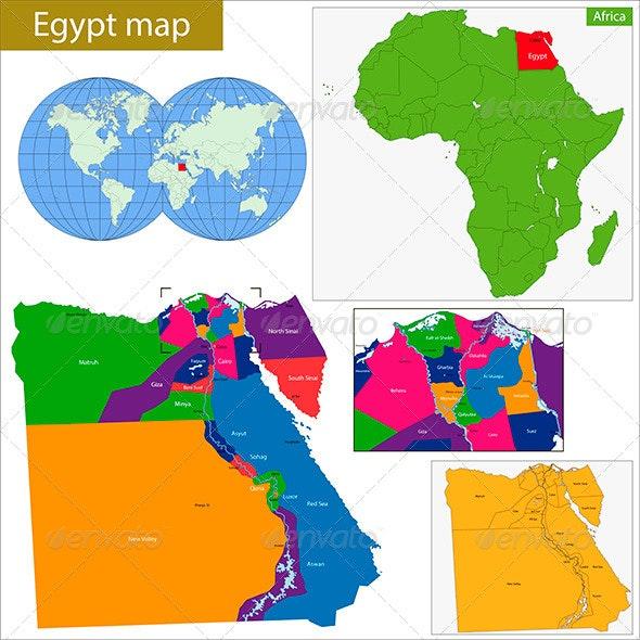 Egypt Map - Travel Conceptual