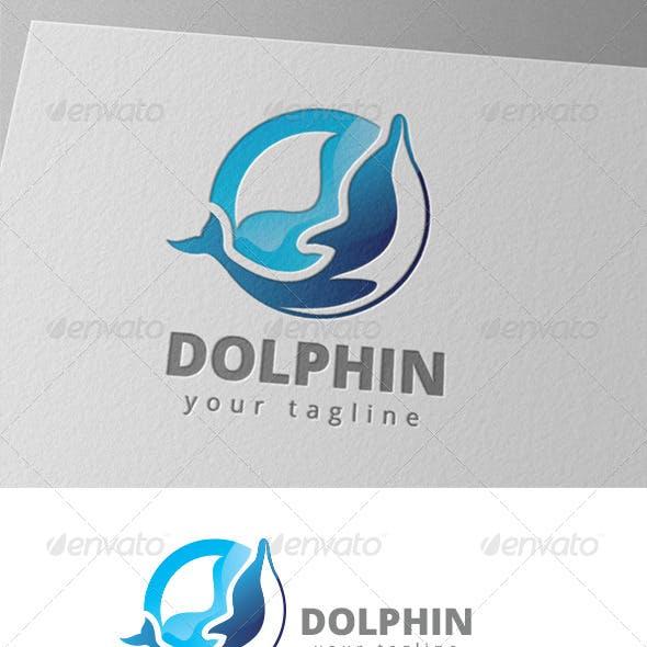 Blue Dolphin Sea Water Sport Logo