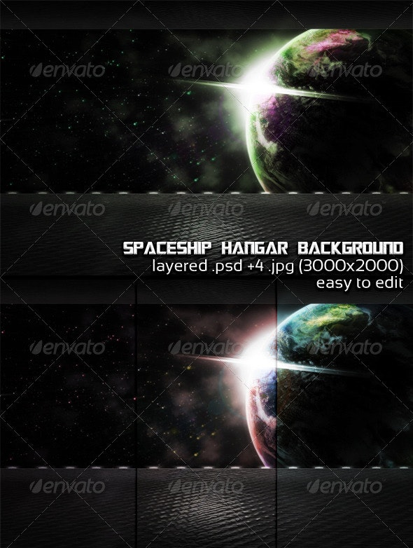 Spaceship Hangar Background - 3D Backgrounds