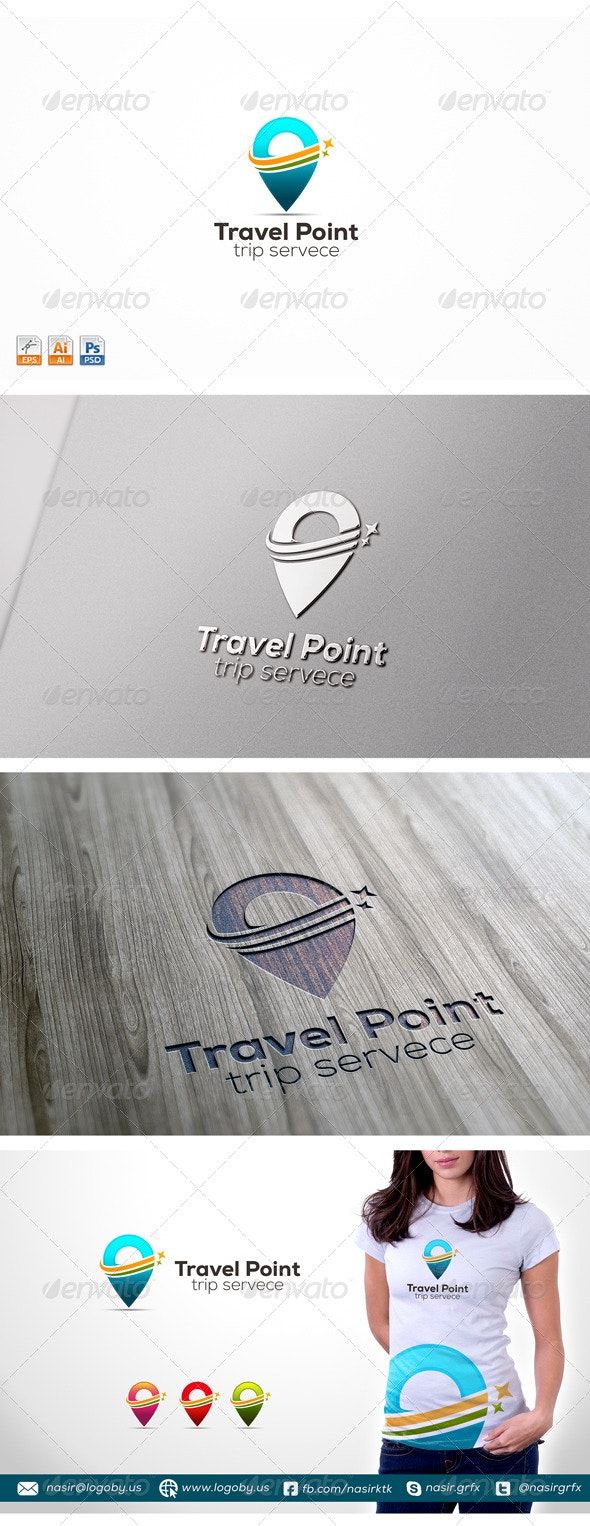 Travel Point - Symbols Logo Templates