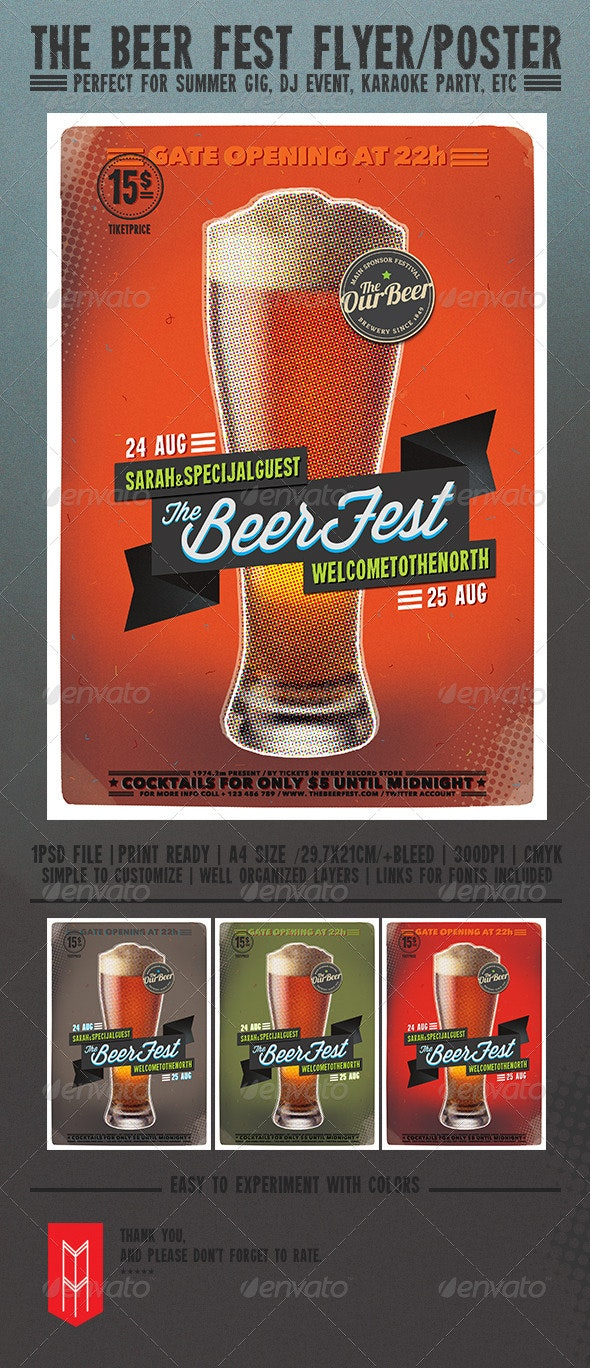 The Beer Fest - Flyers Print Templates