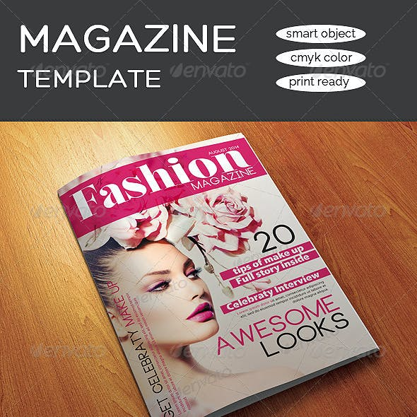 12 Pages A4 Size Fashion Magazine Template