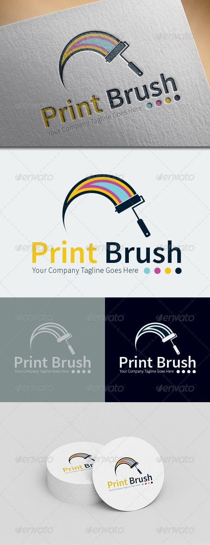 Print Brush Logo Template - Objects Logo Templates