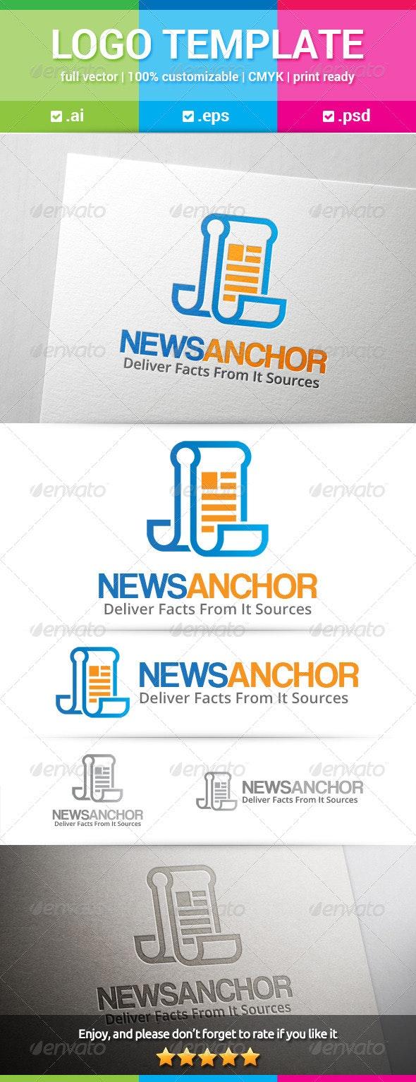 News Anchor Logo - Symbols Logo Templates