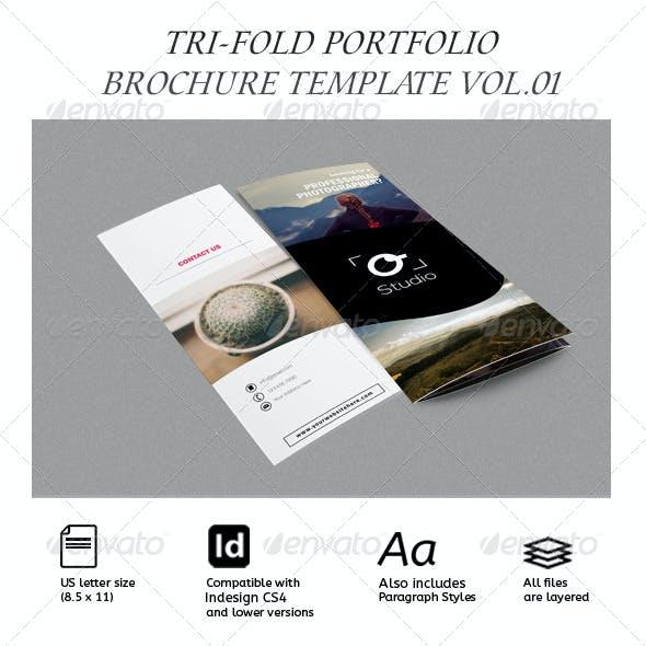 Modern Photography Portfolio Tri-Fold Brochure/ Catalog