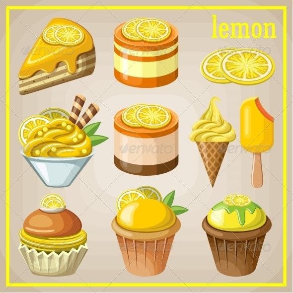 Set of Sweets with Lemon - Birthdays Seasons/Holidays