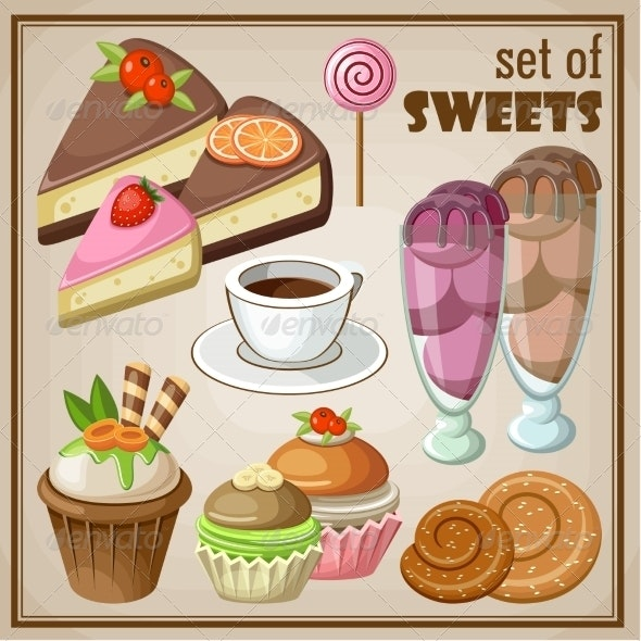 Set of Sweets - Food Objects