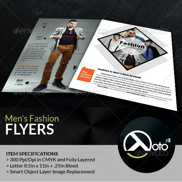 Men Fashion Style Clothing Flyers
