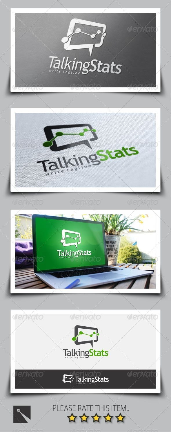 Talking Stat Logo Template - Symbols Logo Templates