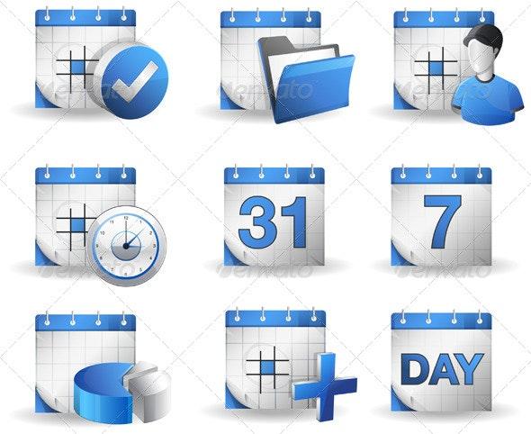 Organizer Icon Set - Concepts Business