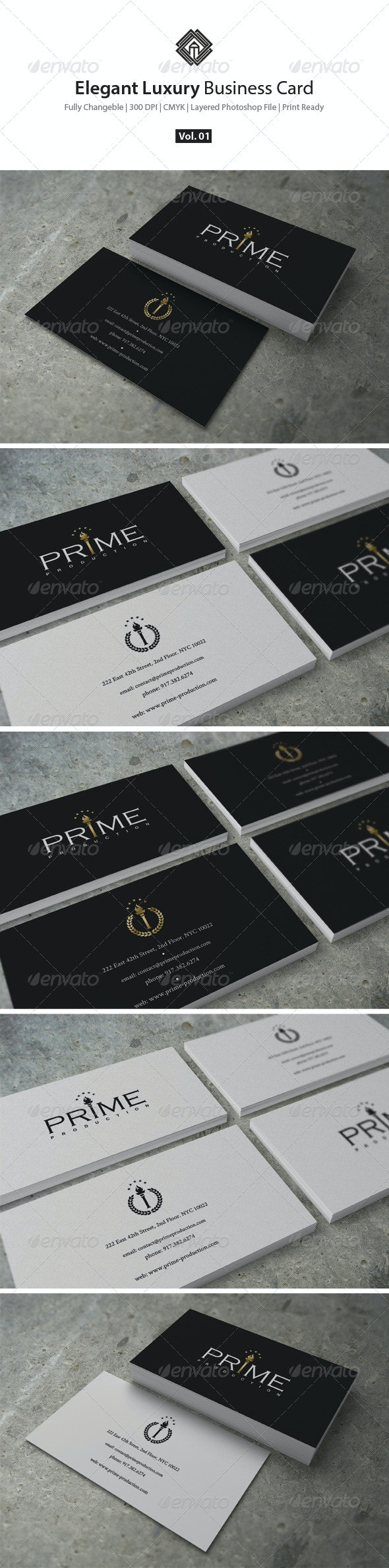 Elegant Luxury Business Card - Corporate Business Cards