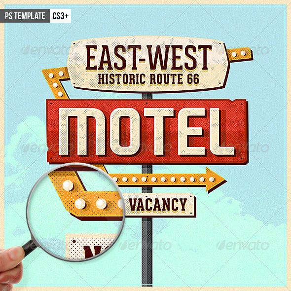 Vintage Motel Sign Pack