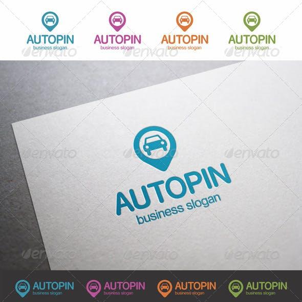 Find Car Pin Logo
