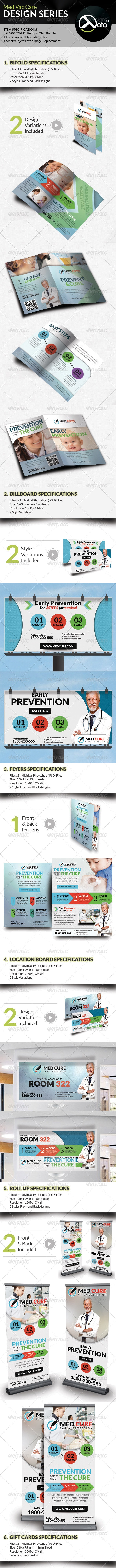 Med Vac Cure Health Care Design Series Bundle  - Stationery Print Templates