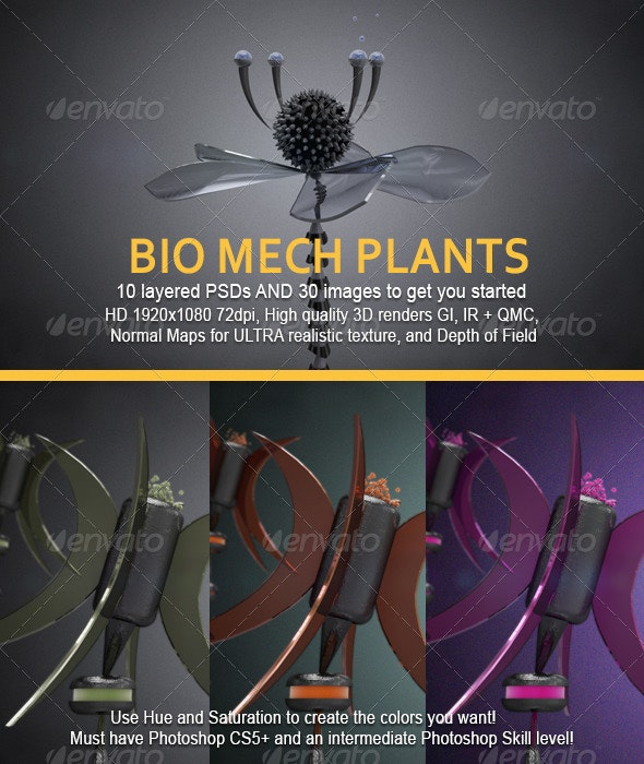 Bio Mechanical Plants - 3D Backgrounds