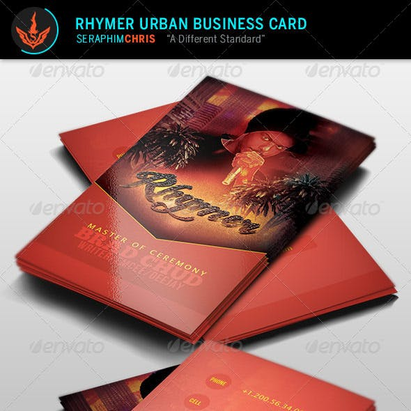 Rhymer: Urban Business Card Template