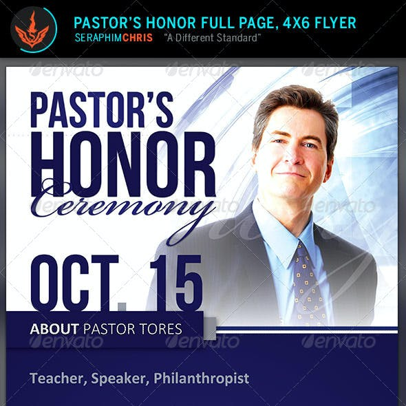 Pastor's Honor: Church Flyer Template