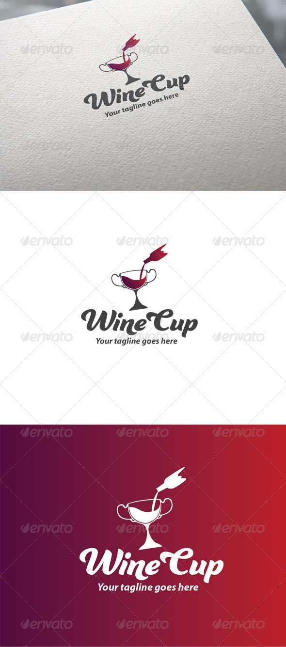 Wine Cup Logo - Objects Logo Templates
