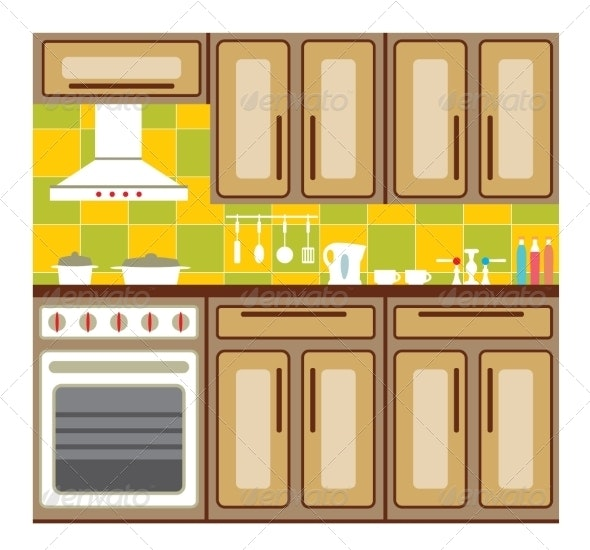 Kitchen Furniture. - Buildings Objects