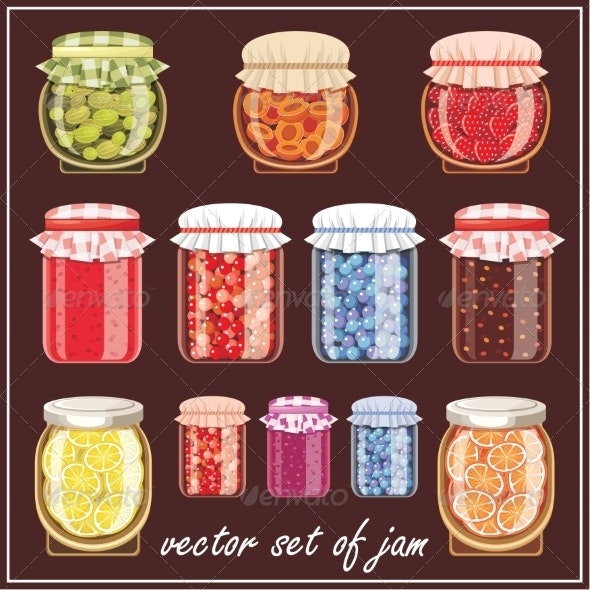 Set of Jam. - Food Objects