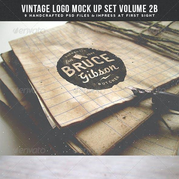 Vintage Logo Mock Up Set Volume 2B