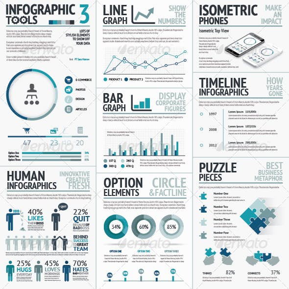 Business Vector Elements for Data Visualization