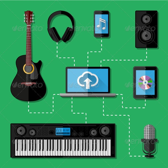 Music Recording Studio Concept - Media Technology