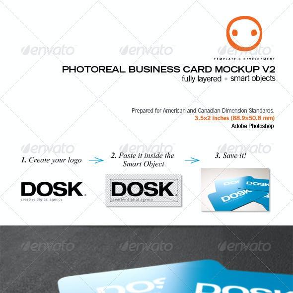 Photoreal Business Card Mockup V2