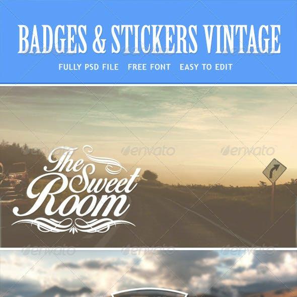 Badges Stickers Vintage