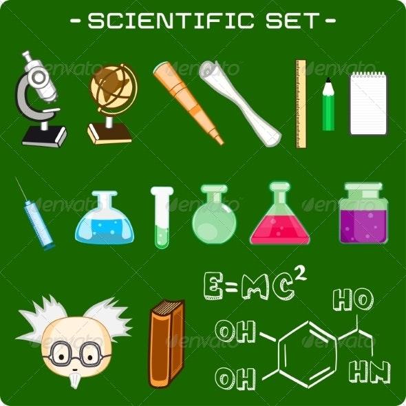 Set of Scientific Icons - Miscellaneous Vectors