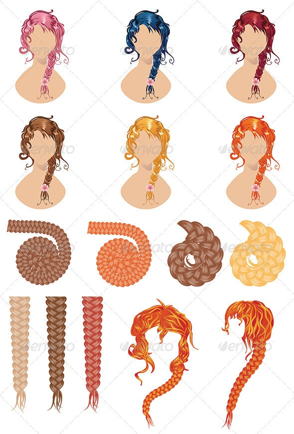 Braided Hair Style - Miscellaneous Vectors