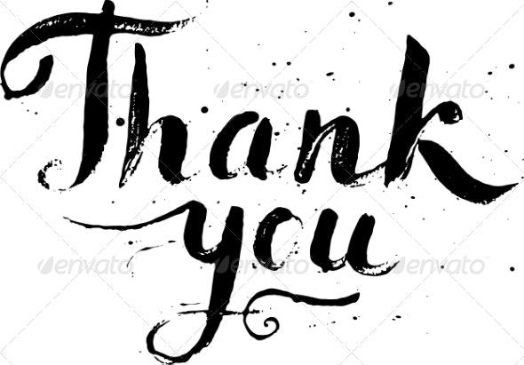 Thank You Calligraphy Vector