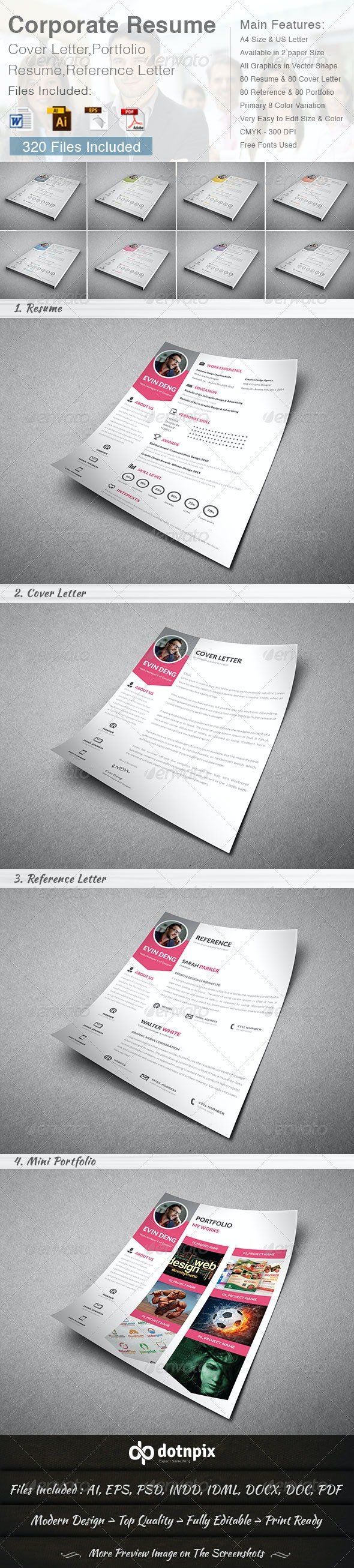 Corporate Resume (4 in 1) - Resumes Stationery