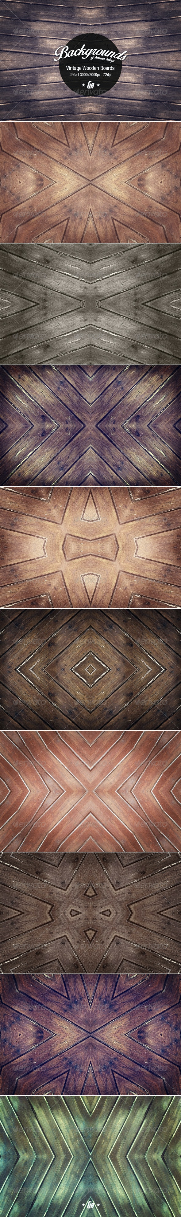 10 Vintage Wood Backgrounds - Nature Backgrounds