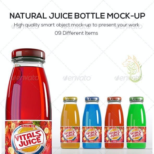 Natural Juice Bottle Mock-Up