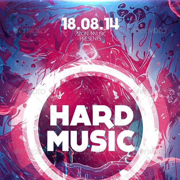 Hard Music Flyer Template