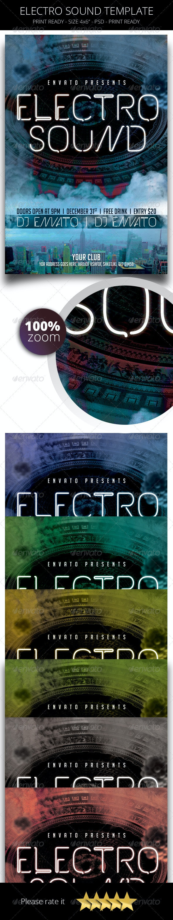 Electro Sound Flyer Template - Concerts Events