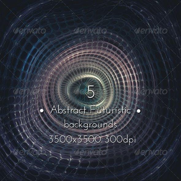 Abstract Futuristic Techno Machine