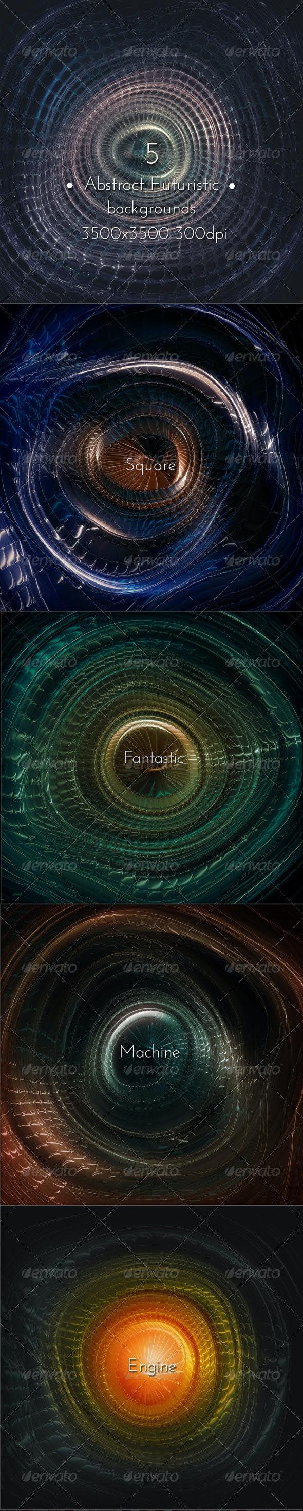 Abstract Futuristic Techno Machine - Tech / Futuristic Backgrounds